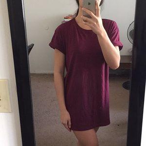 H&M Burgundy T-Shirt Dress, size small